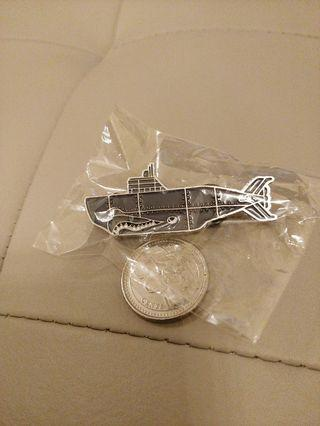 Descendant Submarine Pin by wTaps Designer Tetsu Nishiyama