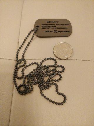 Uniform Experiment UE Dog Tag Necklace
