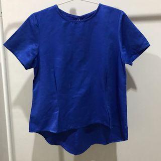 Atasan Biru / Blouse Biru / Blouse wanita / Blue Top / Blue Blouse