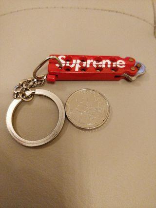 Supreme Mini Butterfly Knife Keychain