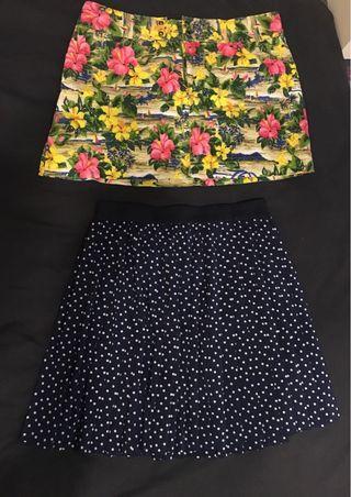 花短裙+點點百褶裙