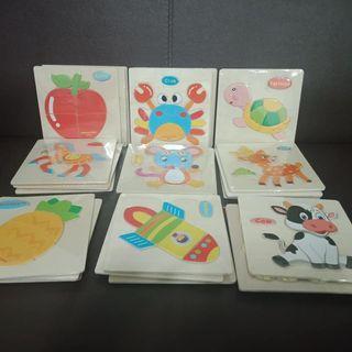 【全新】木質幼教拼圖,單片包裝