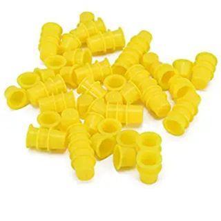 Yellow tattoo cap cups (25 small&25 big)