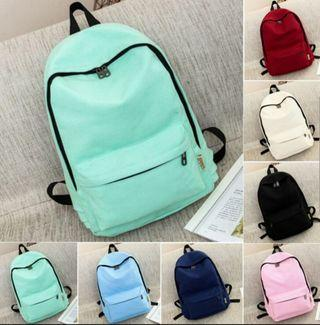 READY STOCK Woman canvas backpack or school bag