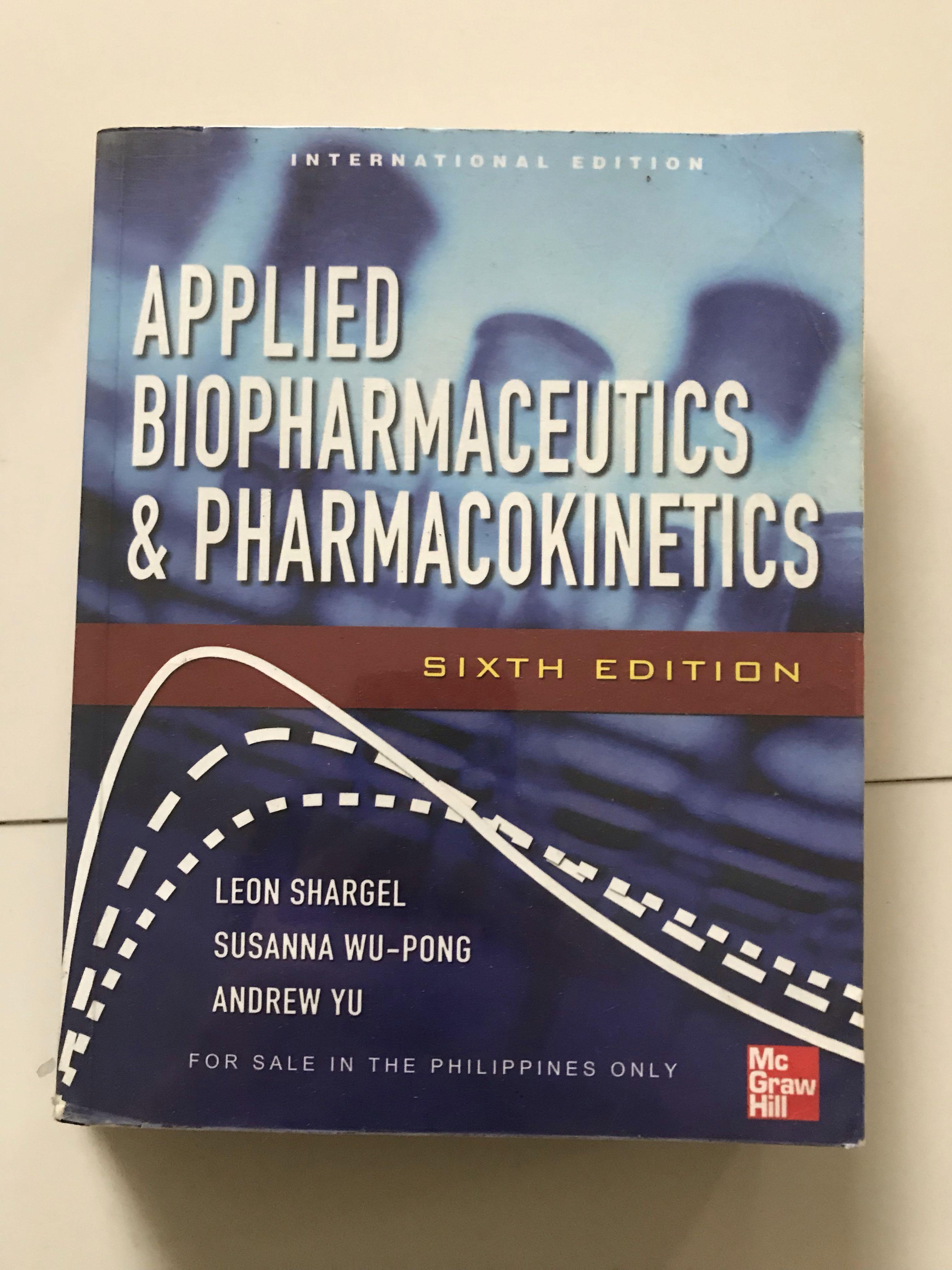 Applied Biopharmaceutics & Pharmacokinetics 6th Edition by Shargel, Wu-pong, & Yu