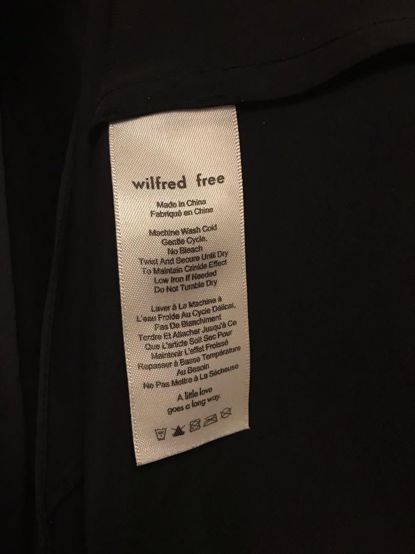 Aritzia Wilfred Christine Dress slip dress black S XS