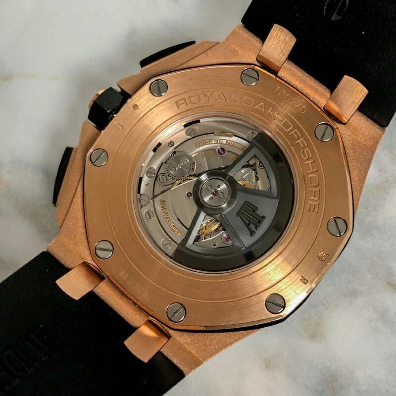 Audemars Piguet Royal Oak Offshore Series Rose Gold Automatic Mechanical Men's Watch 26401RO