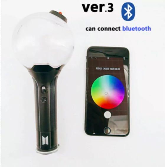 BTS ARMY BOMB VER 3 OFF LIGHT STICK 2018 WITH BLUETOOTH + 7 MEMBERS OFFICIAL PHOTO CARD + FREE AUSTRALIA WIDE SHIPPING WITH TRACKING