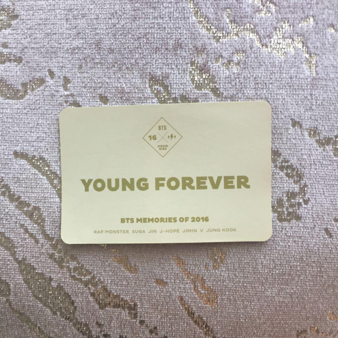 BTS official Memories Of 2016 (Young Forever) Photocard