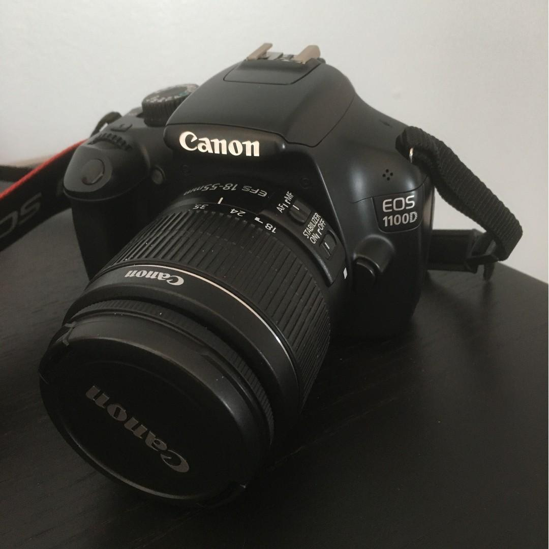 Canon EOS 1100D DSLR Camera and 18-55mm (Black) with Camera Bag on Sale