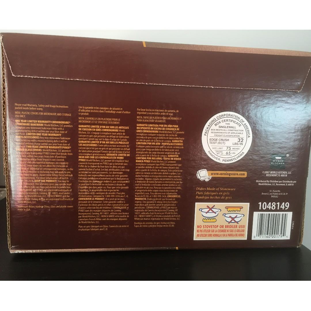 CorningWare French White Casserole Set (7-Piece) on Sale