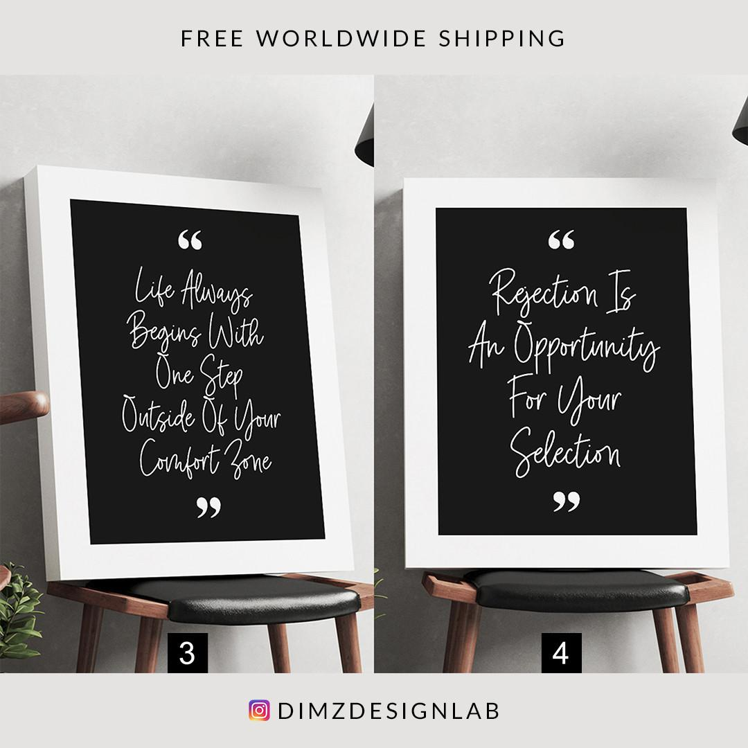 Entrepreneur Quotes Canvas Print, Typography Art Print, Motivational Wall Art, Inspirational Wall Decor, Wall Hanging 11 x 14 Inch