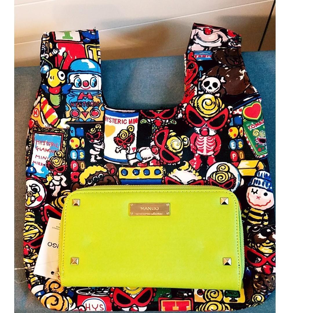 HYSTERIC Mini 黑超BB 日式小手袋 束口布袋 飯盒餐袋  小手袋 放便袋 手挽袋 收納袋 (包郵)