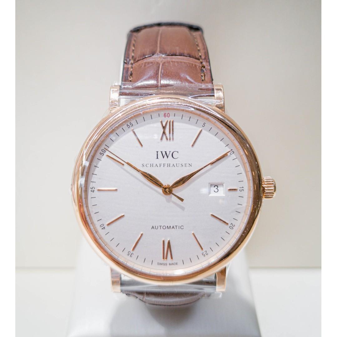 IWC Portofino Leather Watch