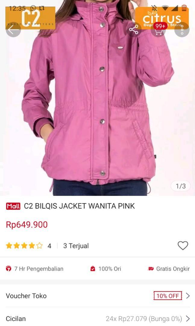 Jaket Motor Bikers Jaket C2 Pink