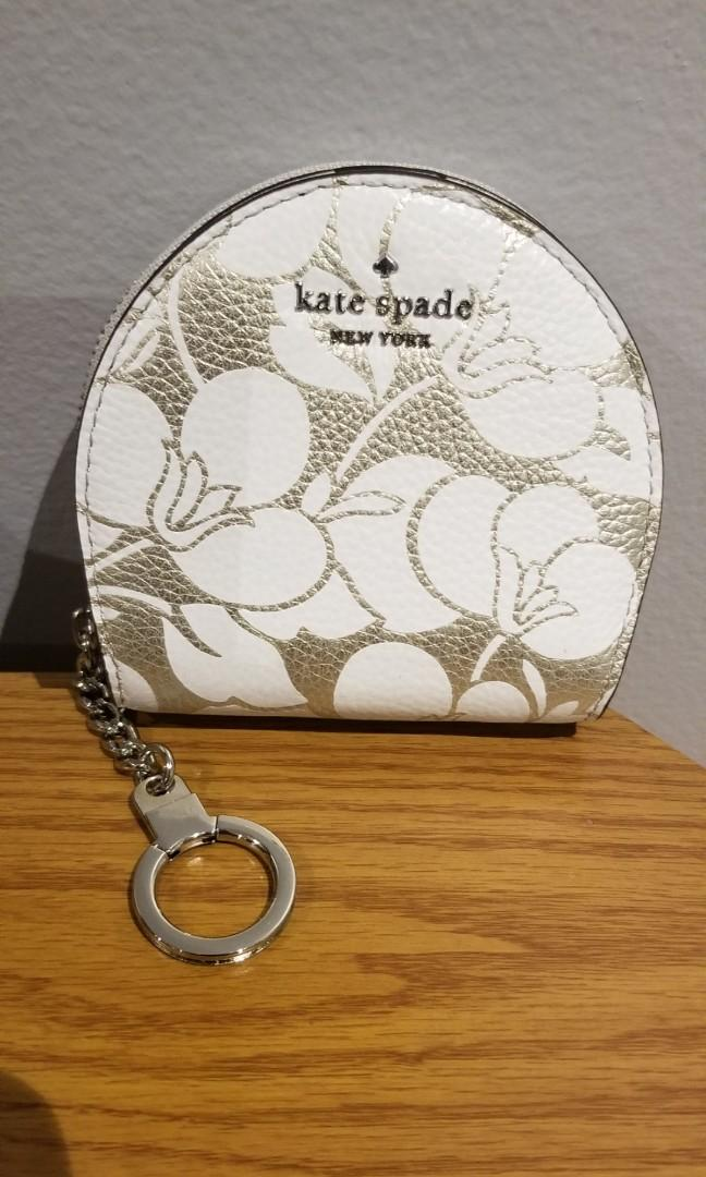 Kate Spade Sari Larchmont Ave Breezy Floral Wallet Coin Key Chain