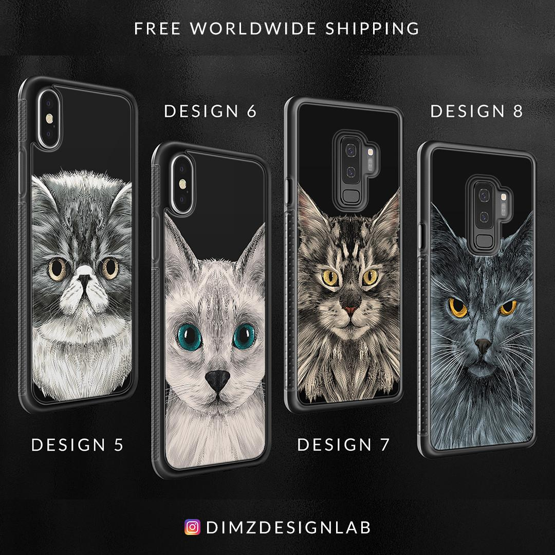 Maine Coon Scottish Fold Devon Rex Bengal Sphynx Cat iPhone XS Max XR X 8 Plus 8 Samsung Galaxy S9 Plus S9 Note 8 S8 Plus S8 Case