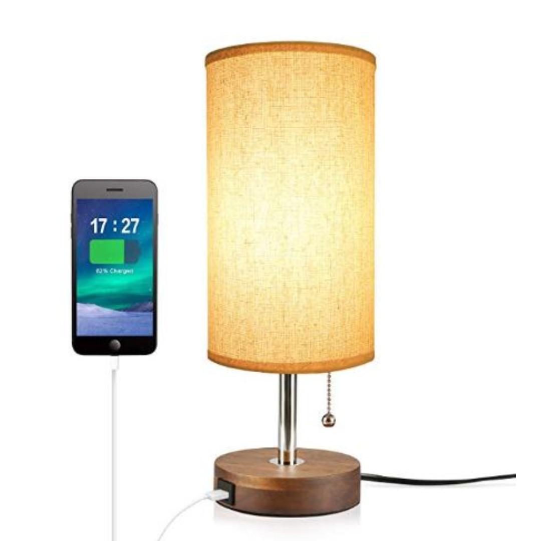 Minimalist Design Solid Round Wood Table Lamp Minimalist