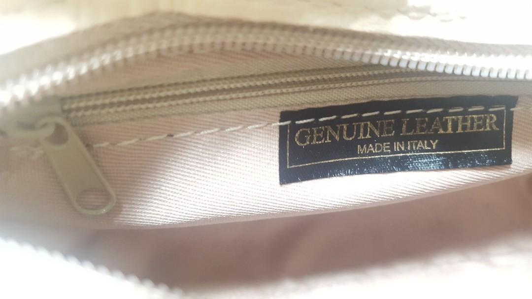 NEW Roberta M - Genuine Leather - Nila Bag in Beige