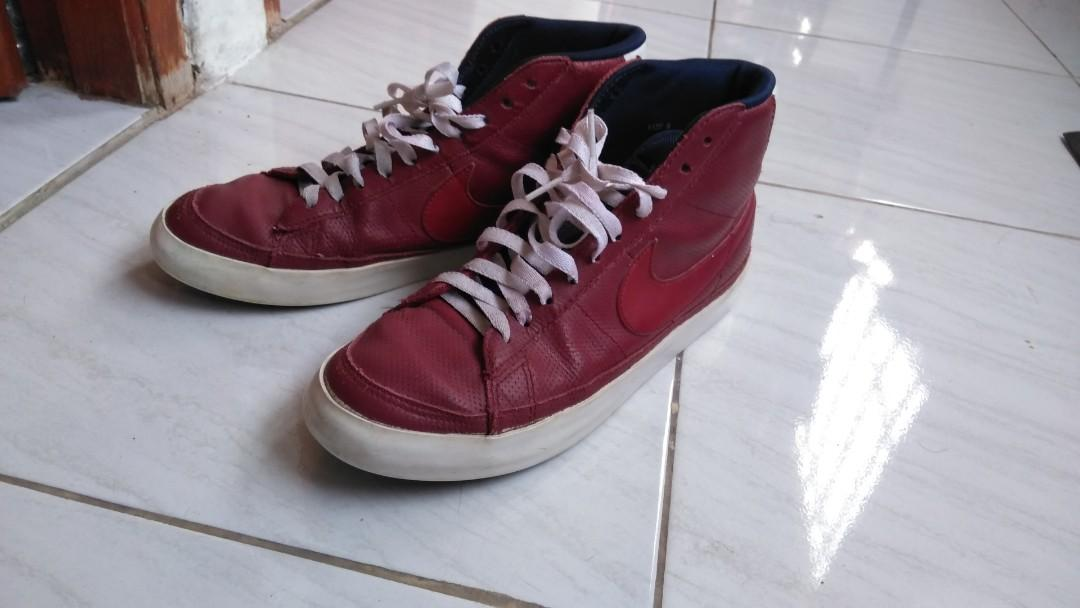 🔵Nike Blazer Mid Team Red White Obsidian 371761603