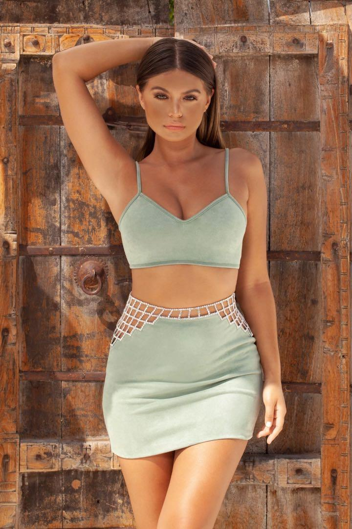 Oh Polly Sage green Two piece set