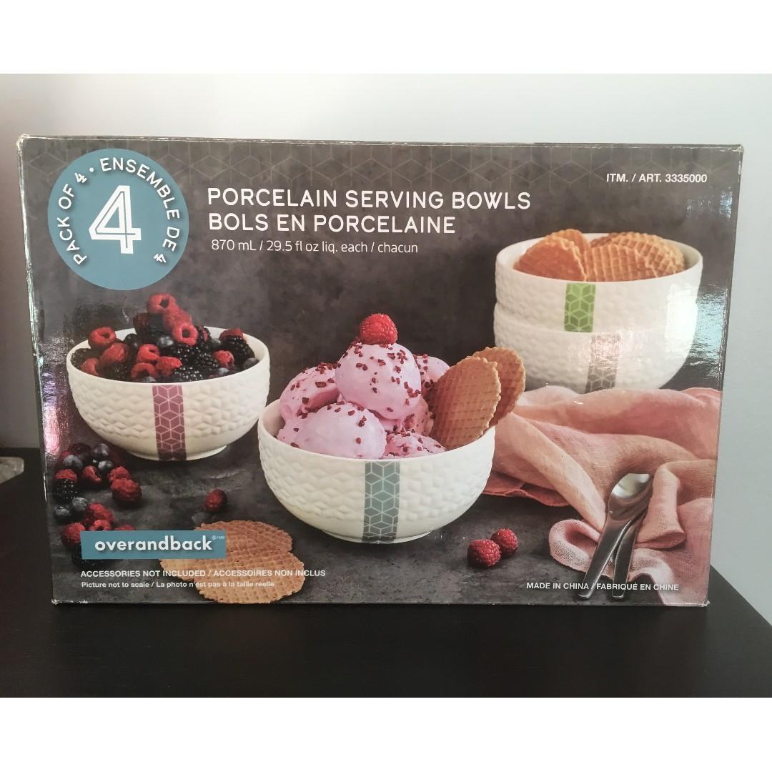 OVERANDBACK Porcelain Serving Bowls (Set of 4) on Sale