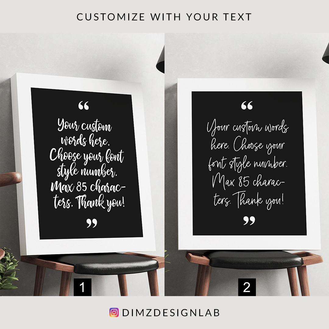 Personalized Custom Text Quotes Typography Bible Verse Song Lyrics Canvas Print Art Print Wall Art Wall Decor Wall Hanging 11 X 14 Inch Home Furniture On Carousell