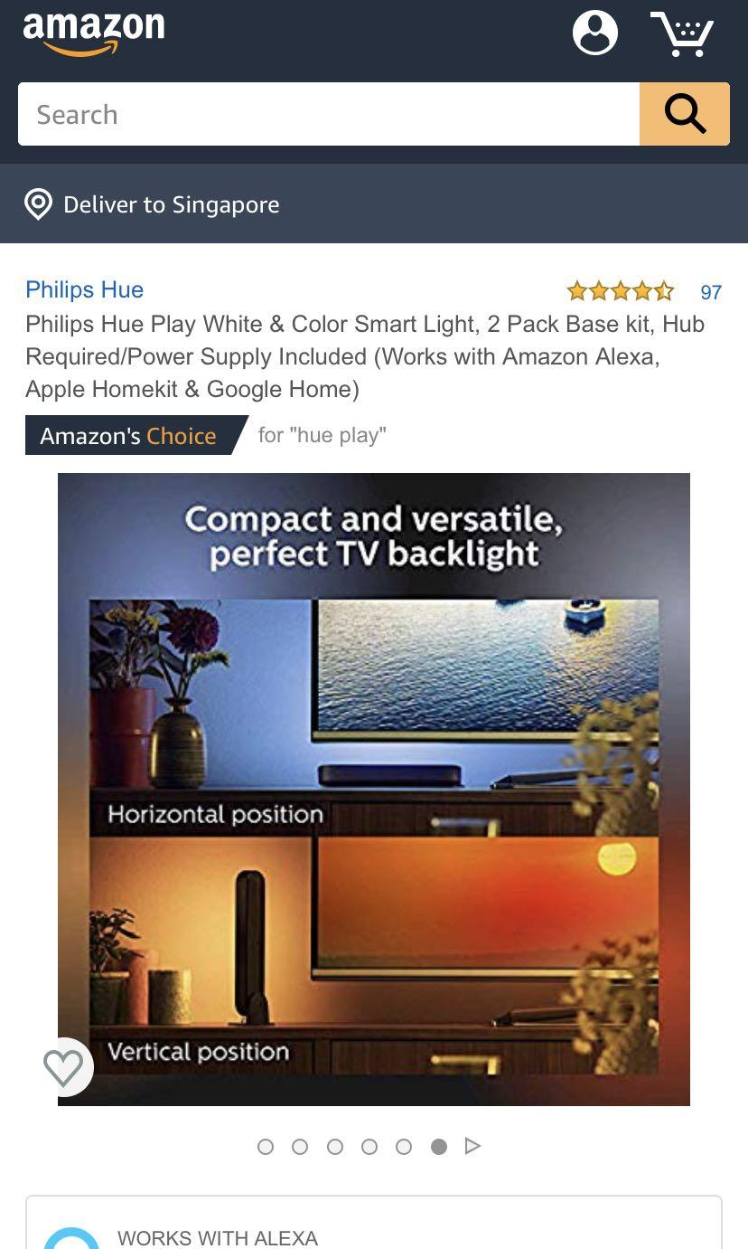 Philips Hue Play Light Bar Base Unit, Electronics, Others on