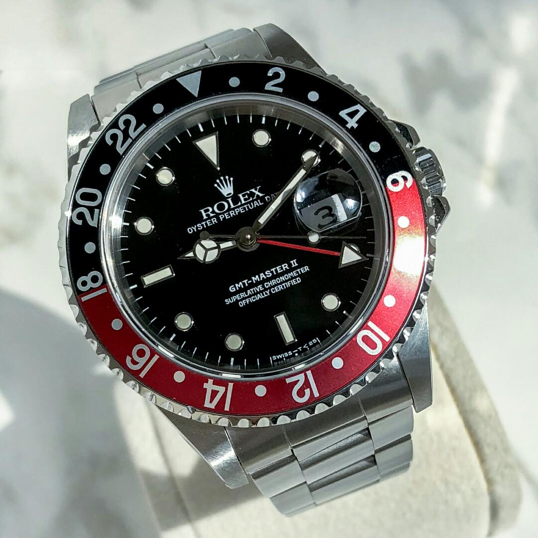 Rolex 16710 Greenwich Coke ring automatic mechanical men's watch GMT two places black plate watch