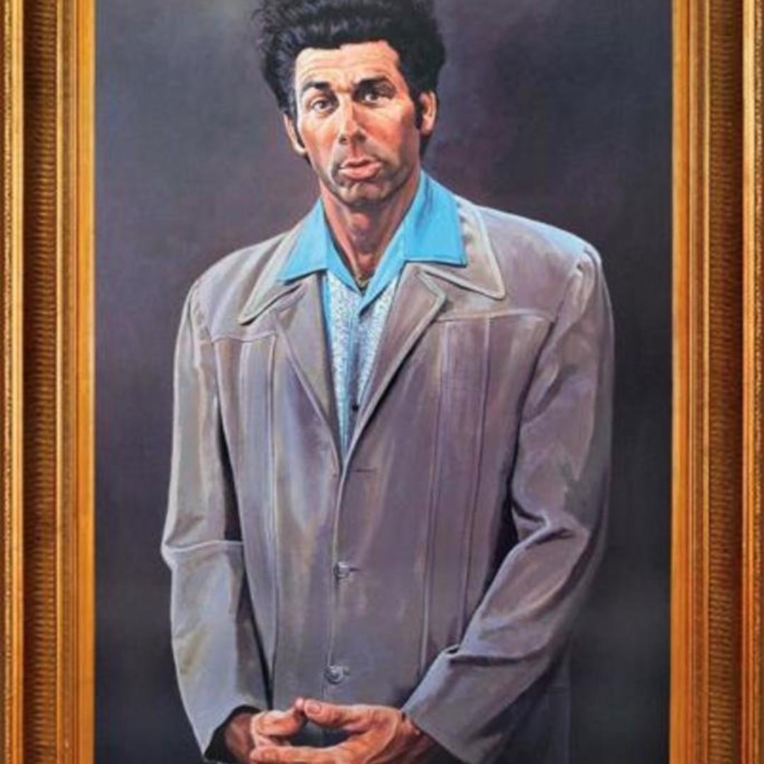 'Seinfeld-Kramer' Framed Graphic Art Print Painting