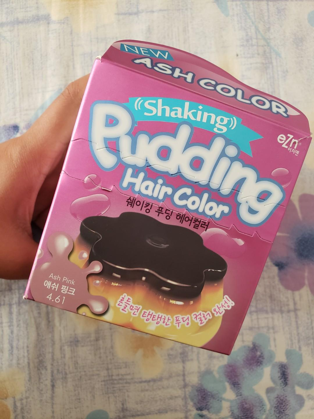 Shaking pudding ash pink hair color