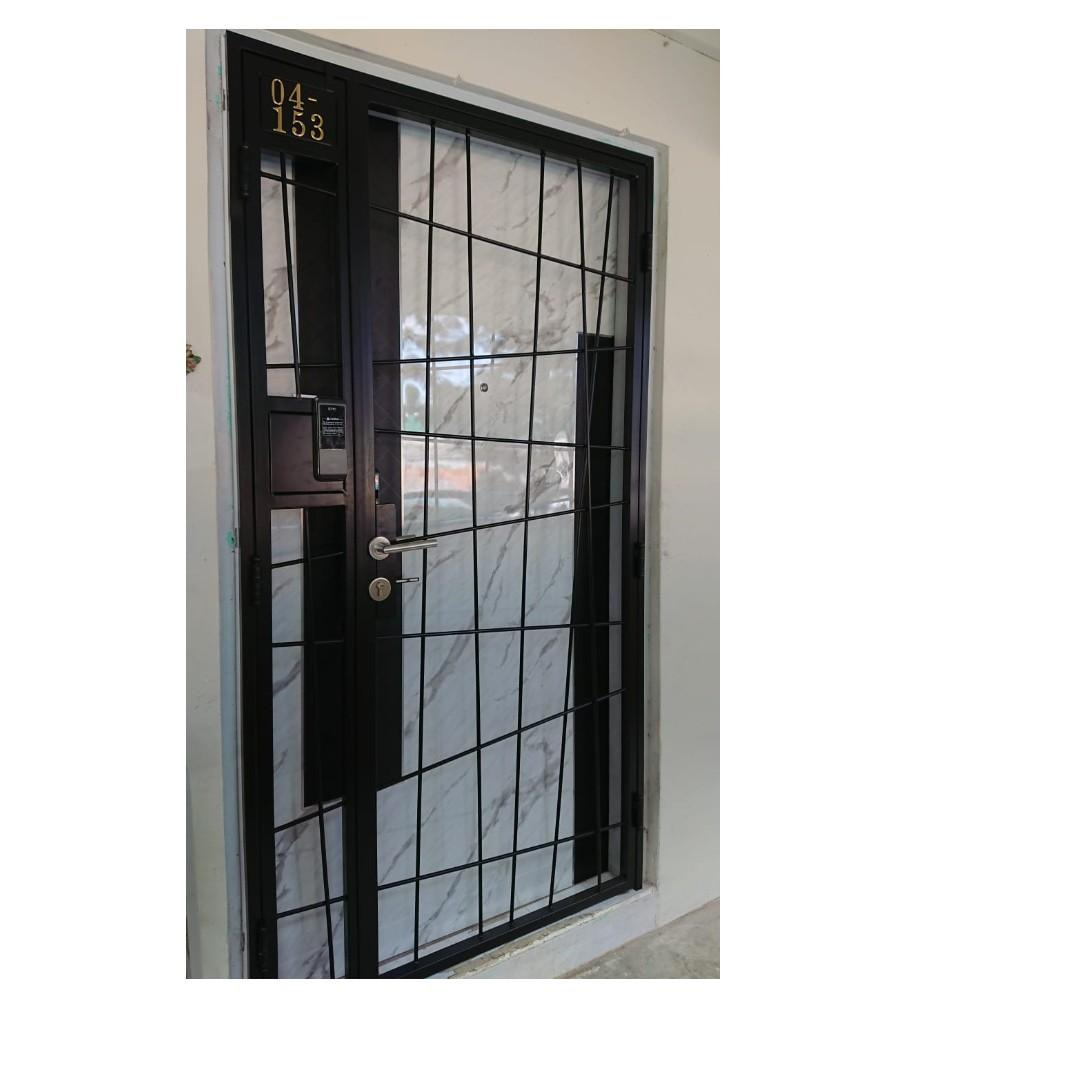 Simple HDB gate design with Epic 2 Way Digital Lock 450 (less $100 for door) 88164080