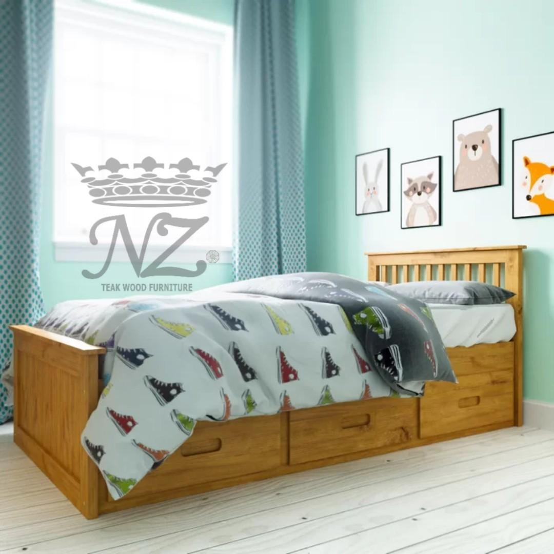 Tempat Tidur Anak Single dengan Laci