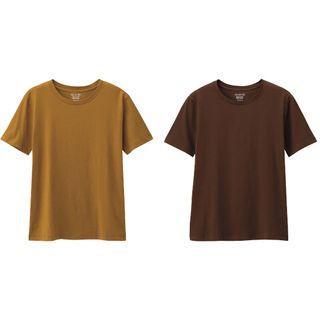 💕限時運費半價only$30 GU 全新 女裝短袖素面T恤(棕色+咖啡色 兩件合售$300)