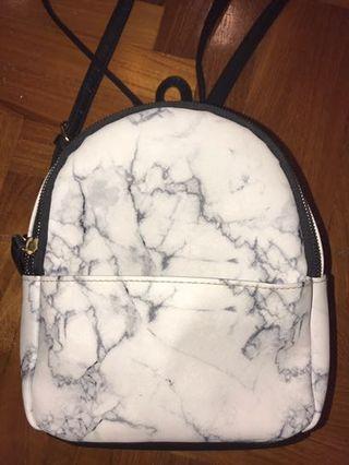 Typo Marble Mini Backpack