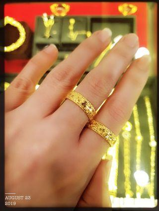 Gold 916 Couple Ring