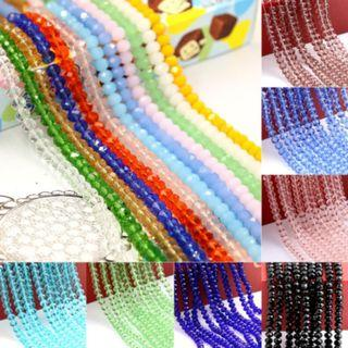 NEW 6mm Crystal Faceted Glass Beads Bracelet Necklace DIY Jewelry Making Accessories