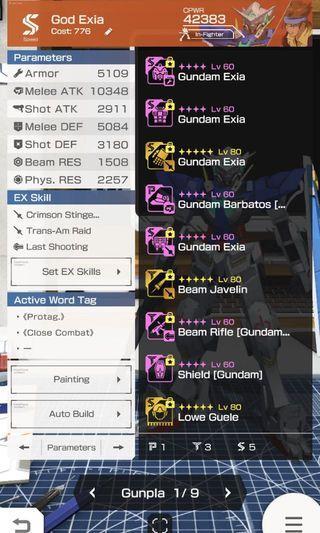Gundam battle Gunpla warfare TOP 10.3K Atk Account