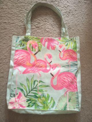 Totebag Flamingo & Monstera
