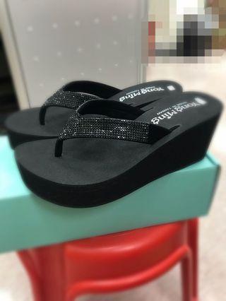 涼拖鞋  (黑色,鞋高7.5cm)