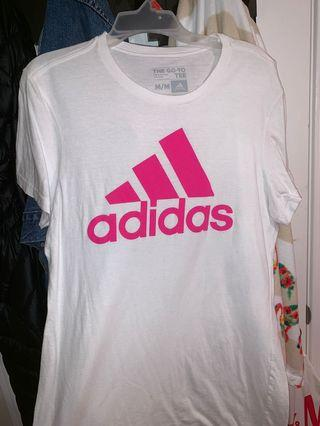 Pink adidas tee size M