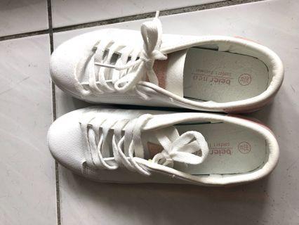 粉紅 小白鞋 休閒鞋