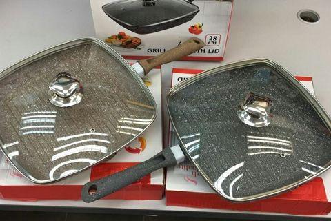 28CM Granite Grill Pan With Lid:large_blue_circle: