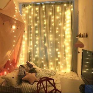 Battery Operated 3 Meter x 3 Meter 300 Led Curtain Lights