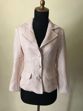 No Brand (Tailored) Chanel Inspired Pretty in Pink Tweed Jacket