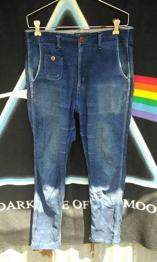Stylish Mc Apache japanese soft cotton denim pants