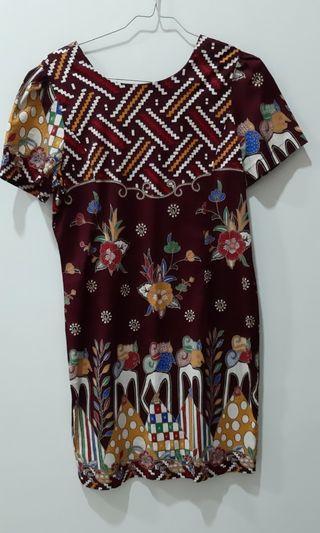 Dress Batik Marun