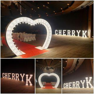 Marquee Lights and Letters for Proposal or EVENTS, DESSERT TABLE, WEDDING DECORATION (RENT)
