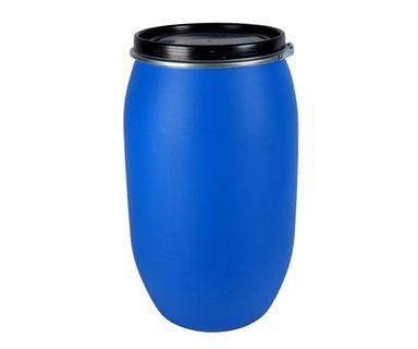 New Open Top Plastic Blue Drum - 125L