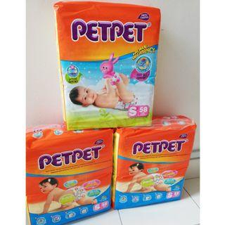 PetPet diapers 3 packs(SIZE S) RM40